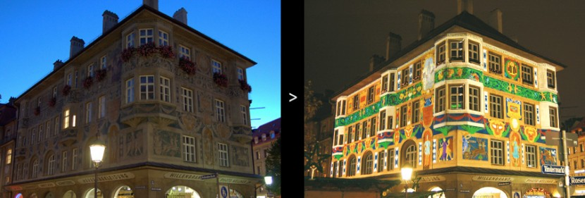 Lichtkunst für Architektur