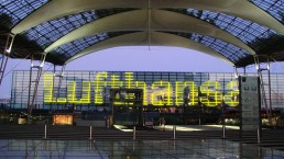Lichtinstallation Terminal 2 Airport Munich