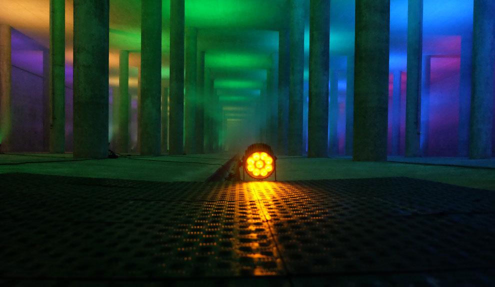 Lichtinstallation Künstler - Atelier München