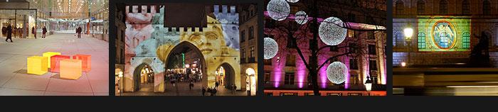 Lichtinstallation München Lichtkunst