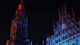 Lichtinstallation am Münchner Rathaus