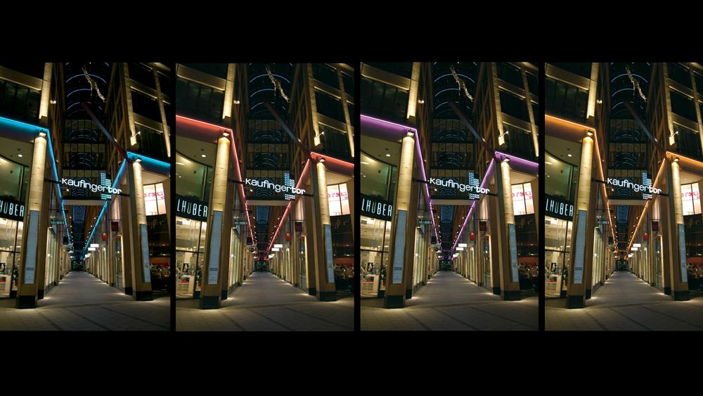 Lichtkunst Fassade