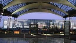 Lichtkunst-Installation Airport München