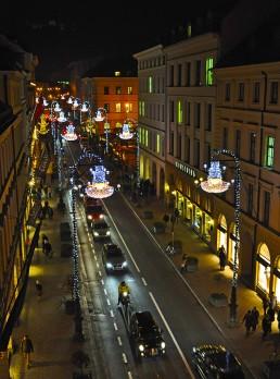Weihnachtsbeleuchtung Brienner Strasse