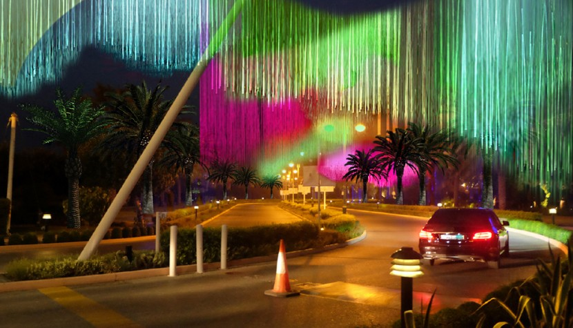 light art and video mapping Bahrain