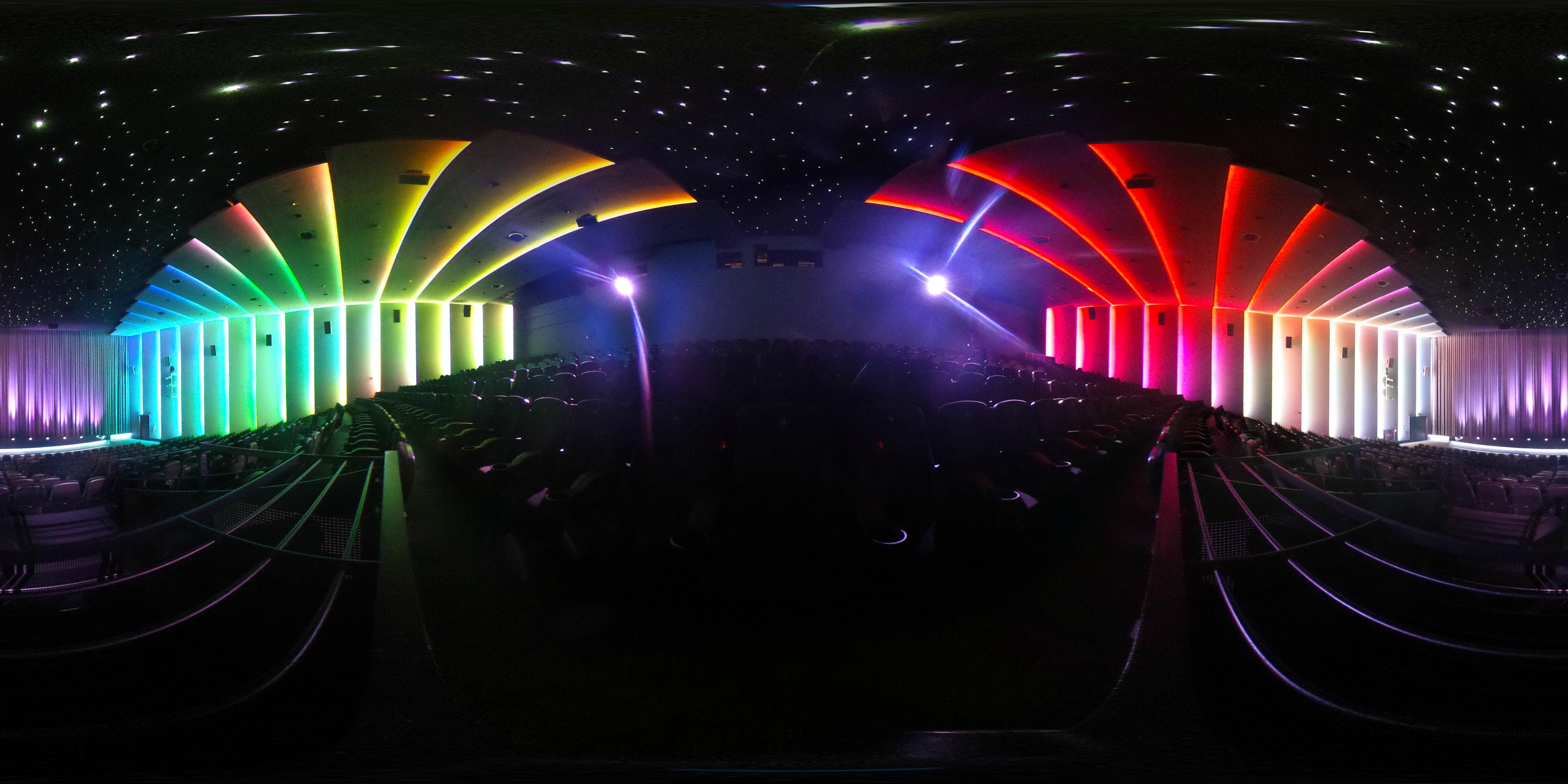 Lichtdesign München immersives light system für das mk6 mathäser filmpalast münchen