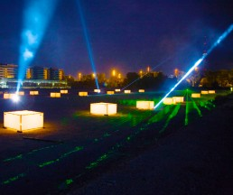 Illumination für Jubiläum der SWM