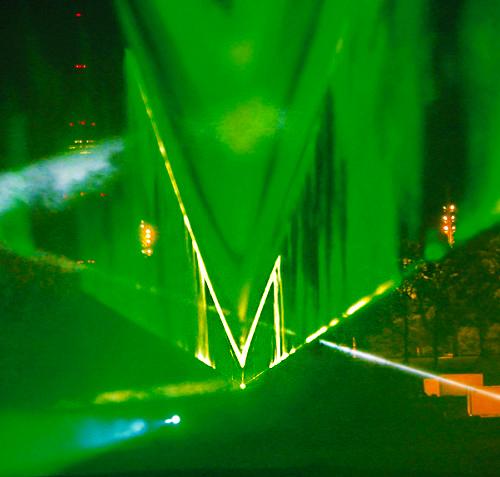 Laser-Licht-Installation München