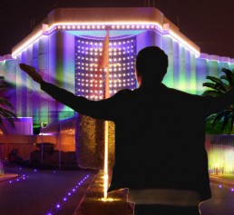 light art project for Ritz Chalton Hotel