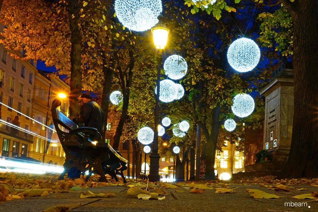Christmas in munich: light art installation
