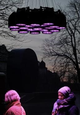 Lichtinstallation Kunst von mbeam