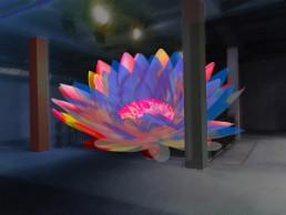 Blooming Lights Lichtkunst für Gebäude