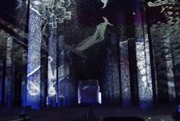 Lichtinstallation - Kunst -Projektion