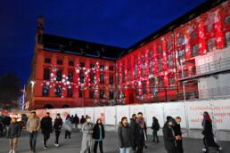 Kunstvolle Lichtinstallation München