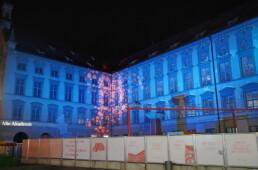 Weihnachtliche Lichtkunst und Lichtinstallation