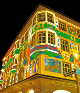 Kunst Illumination an Fasade